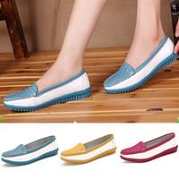 tenis - Spring Autumn women flats sapatos zapatos tenis feminino Flats Round Toe Slip On Block Skidproof Casual Shoes SW033