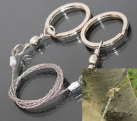 Wholesale BCB Commando Wire Saw Sporting Gifts Silver Steel Wire Saw Scroll Saw Emergency Hiking Camping Hunting Outdoor Survival Tool