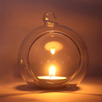 Wholesale Crystal Glass Candlestick Weeding Home Decor Hang Candle Holder Romantic Dinner