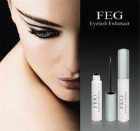 Wholesale 2015 Brand New FEG EYELASH ENHANCER Liquid FEG eyelashes enhancer lengthening eyelash growth treatment High Quality