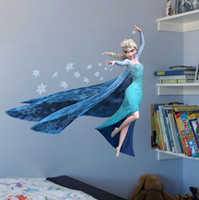 Wholesale Frozen Wall Stickers Frozen Wall Decals Home Decoration Movable Frozen Elsa wall stickers Frozen stickers cartoon wall stickers D24