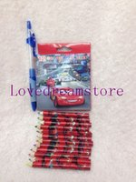 Wholesale school kids Pixar Cars color pencils Cartoon pencils Lovely Twelve colour painting pencil Gift sets