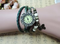 antique pink diamond - Upgrade with Diamond Dial butterfly retro female leather bracelet watches watches