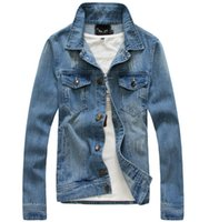MENS JACKETS - Hot Mens Denim Jacket Fashion Casual Slim Coat Manufacturers True For Men