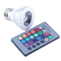 Wholesale 3W E27 RGB LED Flood Light Color Changing Light Landscape Lighting club hotel restaurants Bulb With Remote