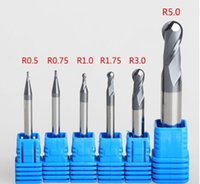 Wholesale R3 R1 R1 R0 R1 R2 R2 R4 R5 Flutes Milling tools Milling cutter Ball nose End Mill CNC router bits hrc55