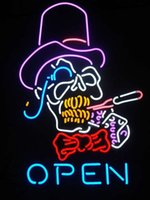 beer glass pipes - TOP HAT PIPE OPEN HANDIWORK NEON SIGN REAL GLASS TUBE BEER BAR PUB Neon Light Sign customer store display
