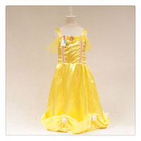 belle christmas stocking - Kids Girl Beauty and beast cosplay carnival costume kids belle princess dress for Christmas Halloween princess character dress in stock