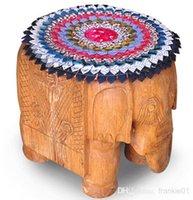 cheap sofa - Thai fabric cushion covers cotton embroidery cushion flower for sofa chair stool cm size cheap free shiipping