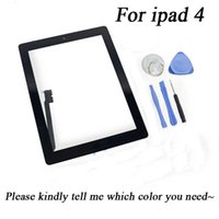 Wholesale 1pcs touch screen for Apple ipad ipad4 touch digitizer screen glass replacement Home Butten Camera Holder