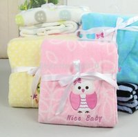 Cheap Baby sleeping blanket Baby dresses babys winter clothing Coral fleece baby Swaddling warm bed 102X76cm