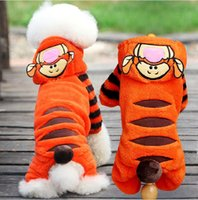Wholesale Fashion Halloween Cat Costumes Soft Fleece Dog Cat Jumpsuit Pet Overalls Puppy Cat Clothes for Small Cat Dog Pet