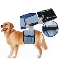 al por mayor dog underwear-Nuevo perro masculino fisiológico pantalones de aseo de formación pañal cachorro de vientre banda ropa interior pantalones sanitarios 2 colores XS - XL