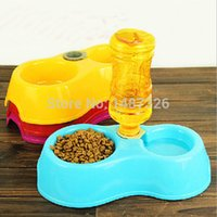 Cheap Cats Pets Pet Suppliespets Cats pet suppliesPets Puppy Dogs Cats Automatic Water Drinking Feeding Basin Food Bowls Free shipping