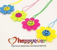 award medals - Hot Sale Smiling Face Flower Fancy Award Medals Kids Party Favor Necklace Pinata Fillers Toy Game Winner Prize Goody Bag Birthday