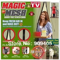 Wholesale DHL New Magic Mesh Hands Free Screen Door Magic mesh Magnetic Anti Mosquito Bug Great For Pets