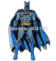 comic books - 4 quot Batman Comic Book Style Standing Uniform Logo Animated halloween Movie TV Series Costume Embroidered Emblem applique iron on patch