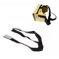 Wholesale Head Strap Detachable Elastic Adjustable Head Mout Strap Belt for Google Cardboard Virtual Reality VR D Glasses DHL V841