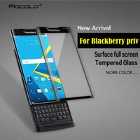 Wholesale Color H D Full Cover Tempered Glass Film Screen Protector For Blackberry Priv With Retail Packaging