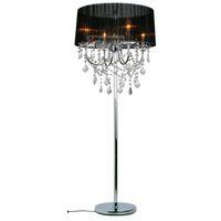 Wholesale Modern Crystal Living Room Floor Lamp European Fabric Lampshade crystal hanging Bedroom Bedsides crystal Floor Lighting Fixtures