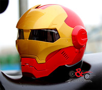 Wholesale ironman motorcycle helmet Masei skull helme The Avengers Iron Man moto helmet DOT Authenticate motocross helmet