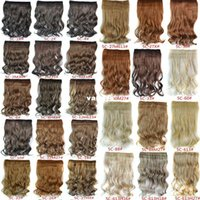 Wholesale 1PC G Woman Curly Clip In Hair Extension Colors One Piece For Full Head Long Wavy Curly Hair Extension Hairpieces Hairdo