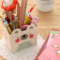 Wholesale Cute Cat Cartoon Paper Stationery Makeup Cosmetic Desk Organizer Storage Box DIY