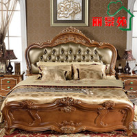 american furniture manufacturers - The latest explosion models popular American antique carved furniture bedroom manufacturers custom wedding Doubles
