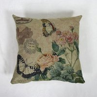 Wholesale New Butterfly Flower Cotton sofa cushoins cover decorative pillow case chair throw Pillow Case Covers home decor