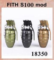 Cheap New Arrival E Cig FITH S100 Mechanical mod Grenade Electronic Cigarette vs Innokin Cool Fire 2 Fit Dark Horse Lancia Doge Little boy TZ259