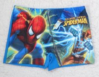 Cheap Boy spiderman cartoon swim trunk Best Swim Trunks 3T-4T girls cartoon Beach Swimwear