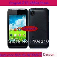 Cheap ZTE V889S phone Dual Core MTK6577 1.0Ghz 3.2MP Original ZTE phone Kids Moblie Android 3G Smartphone In stock Multiple Languages