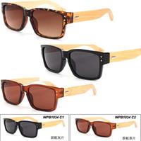big bamboos - Hot Wood Sunglasses Natural Bamboo Sunglass Eyewear Glasses Unisex Vintage Handmade Wooden Sports Sunglass Plastic Big Frame LJJE85