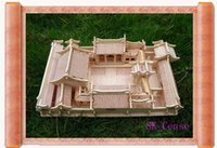 beijing architecture - D Woodcraft Puzzle kit Chinese Architecture House Beijing Courtyrard Model