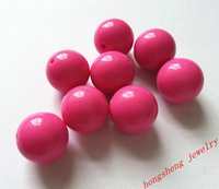 Wholesale Bright Hot pink Large MM Big Chunky Gumball Bubblegum Acrylic Solid Beads Colorful Chunky Beads for Necklace B01