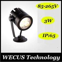 Al por mayor (WECUS) envío libre, diseñadores recomiendan, lámpara de césped al aire libre impermeable del LED, luces Garden Plaza Jardín luces enterradas, 85-265V 3W