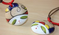 ceramic figurines - Original ceramic figurines necklace
