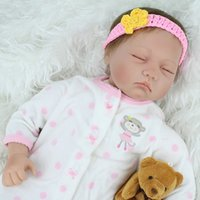 Cheap NPK Newborn Babies Doll Lifelike Sleeping Silicone Reborn Baby Doll For Girls Kids Fashion Reborn Boencas Toy
