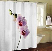 bath shower screen - New Arrival Prunus mume Shower Curtain with Hooks cm W x180cm H waterproof fabric bath screen bath curtain