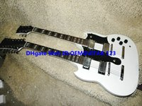 Cheap White Custom Shop 1275 Double Neck Electric Guitar 6 12 strings Guitar Free Shipping