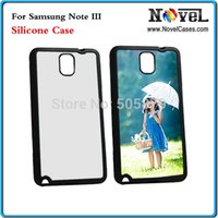Cheap New Arrival! sublimation Silicon case for Galaxy Note 3, N9000, with aluminium insert