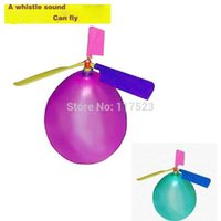 Wholesale 10pcs helicopter Flying balloons Kid s Favourite Toy Outside Sports Ball Game