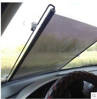 Wholesale New Retractable Car Auto Front Back Sunshield Cover Visor Windshield Sun Shade x125cm