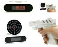 american targets - Free DHL Novelty Gadget Target Gun Shooting Alarm Clock Lock N Load Target Alarm Clock Toy Gift Clocks