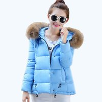 Cheap 2015 Free shipping winter coat women new mantle type short solid color loose parka with fur collar women winter jacket 63