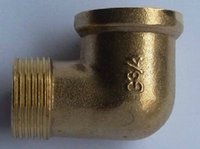 Wholesale DN15 elbow fittings quot thread brass nipple brass pipe fitting big sizes elbow