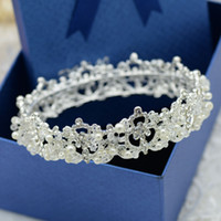 Wholesale Fashion Bridal Crystal Tiara Crown Hair Accessories For Wedding Quinceanera Tiaras And Crowns Pageant Hair Jewelry tiaras for cheap