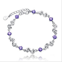 bean bracelets - 925 sterling silver bracelet South Korea s silver ornaments Love apartment Red bean amethyst platinum plated foreign trade