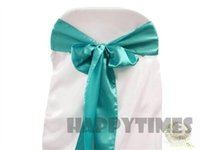 banquet linens - Premium Turquoise Satin Chair Cover Sashes for Wedding Chair Sash for Banquet Chair Linen
