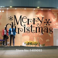 american home store - Window Stickers Quotes Merry Christmas Decoration Store Window Decals DIY Vinilo Wall Art Home Decor For Living Room